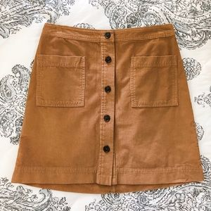GAP corduroy button front skirt
